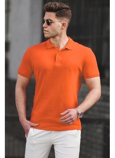 Madmext   Basic Polo Yaka Erkek Tişört 5101 Oranj